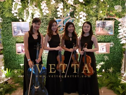 ESTA Quartet for Wedding at Fullerton Bay Hotel