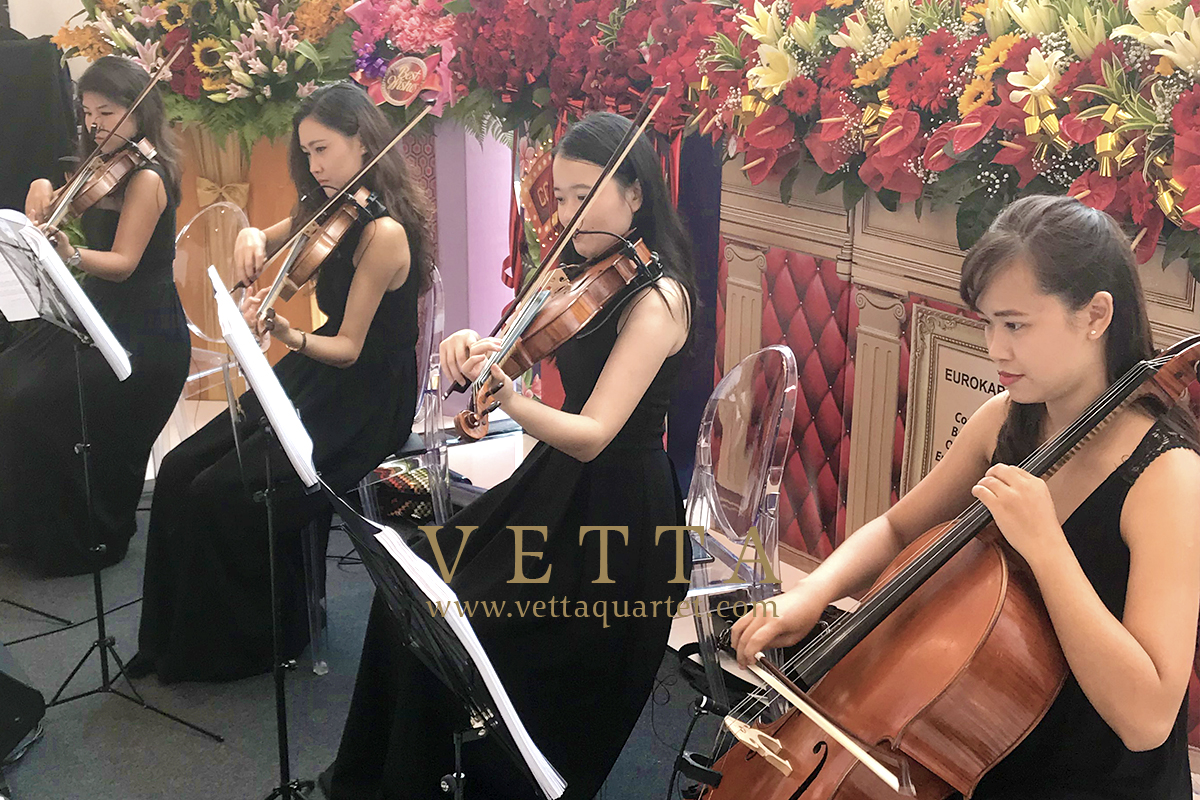 ESTA Quartet rehearsal for AIA Awards ceremony at Marina Bay Sands