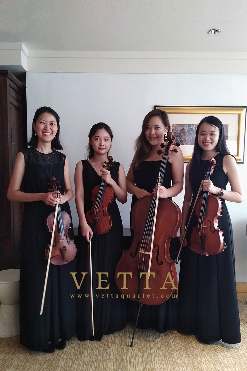 ESTA Quartet rehearsal for AIA Awards ceremony at Marina Bay Sands